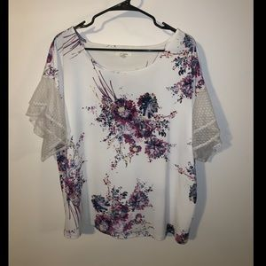 Maurice's Lace Sleeve Blouse